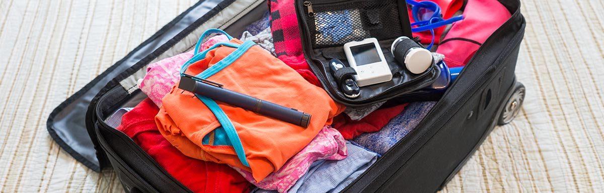 Koffer gepackt für Diabetiker